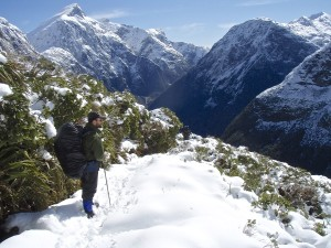 Happy memory - me on the Milford Track