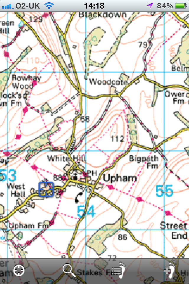 Ordnance Survey 1:50,000 Landranger Map for iPhone