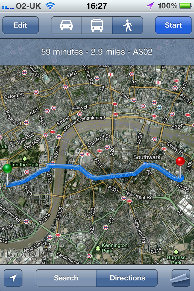 Google Maps - great for the city