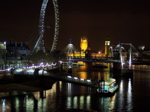 The River Thames at night