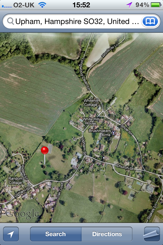 Google Maps - not so great in the countryside