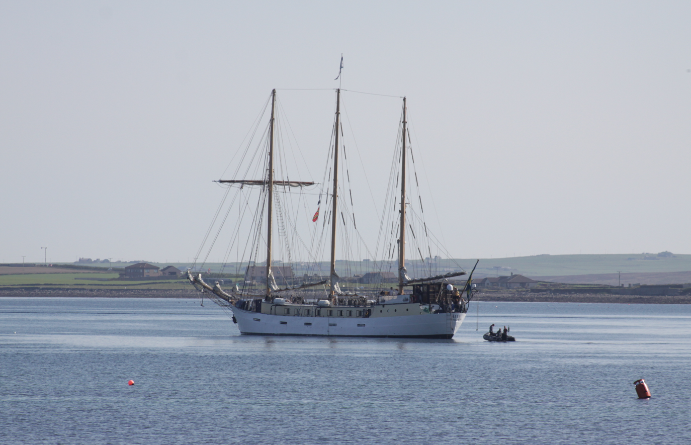A ship in Kirkwall Harbour