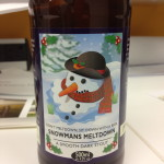 A bottle of Snowmans Meltdown beer