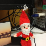 Knitted Father Christmas figure