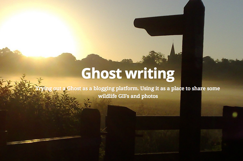 Screenshot from Ghost Writing Blog